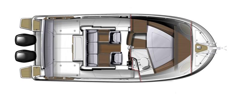 Beneteau Barracuda 9 - план катера