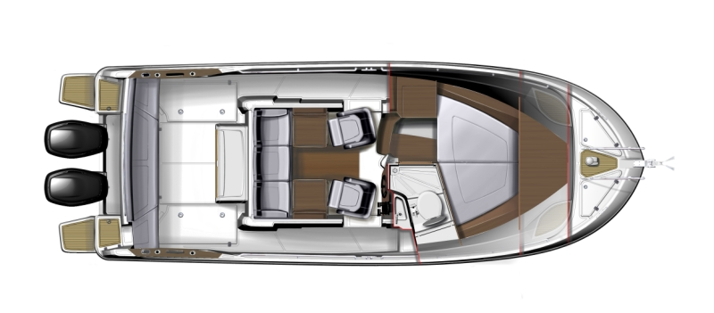 Beneteau Barracuda 9 - план катера