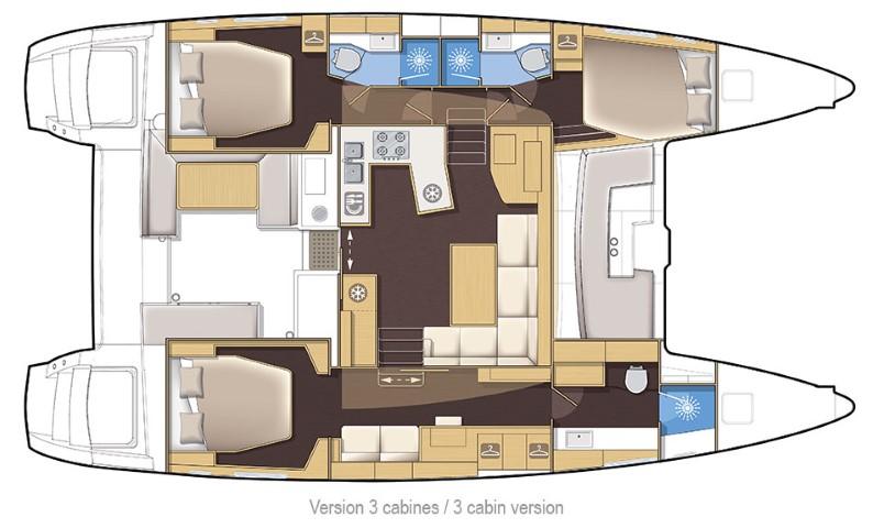 Lagoon 450 3 cabins