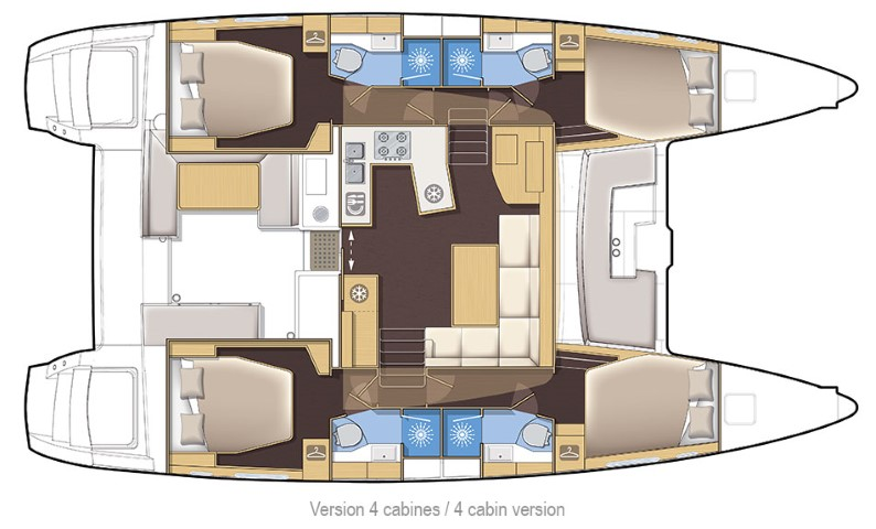 Lagoon 450 4 cabins