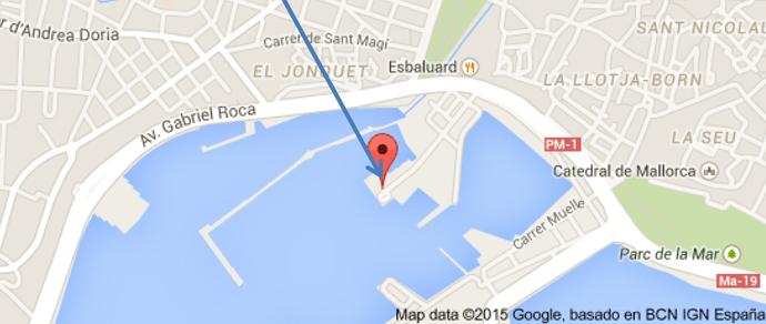 Карта проведения тест-драйва яхт Beneteau