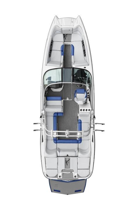 Моторный катер Mastercraft X26 план палубы